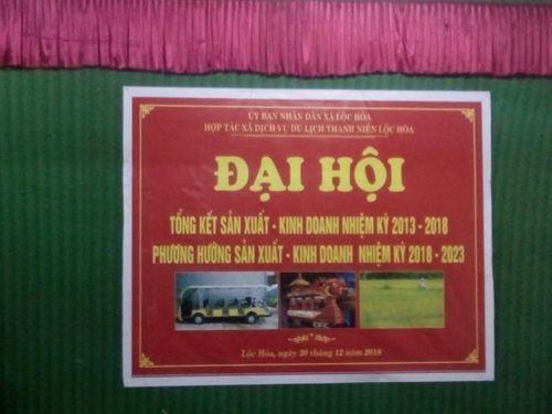 Đại hội HTX DVDLTN Lộc Hòa: Nhiều đại biểu bỏ về giữa chừng