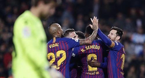 Đánh bại Levante, Barca giành vé vào Tứ kết Cúp nhà Vua