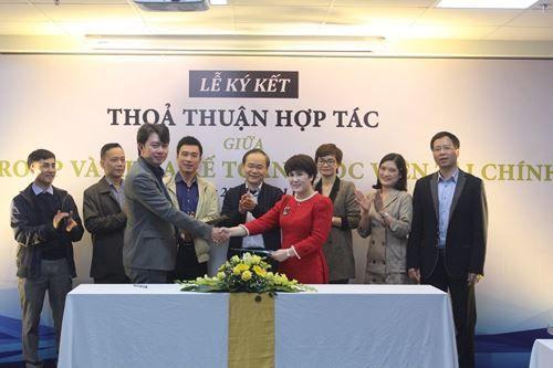 DDP Group ký Thỏa thuận hợp tác với Học viện Tài chính