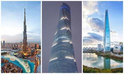 5 tòa nhà chọc trời đang cao nhất thế giới