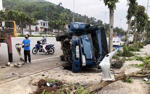 Xe tải húc bay xe máy với tốc độ kinh hoàng, một người bị thương nặng