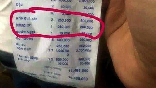 Thêm nhà hàng ở Nha Trang 'chém' 3 đĩa rau 750.000 đồng