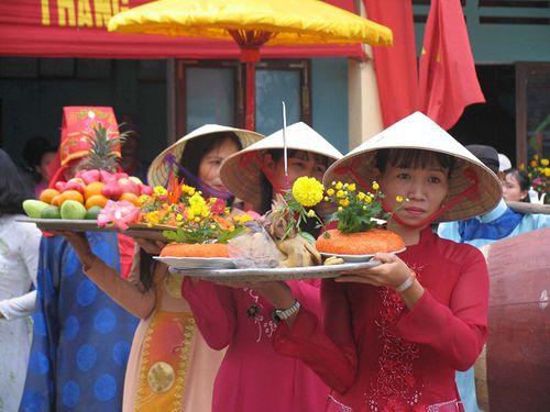 Làng rau Trà Quế ở phố Hội nô nức tổ chức lễ cúng Cầu bông
