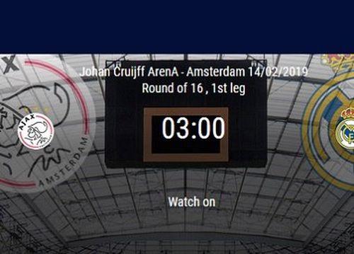 Kèo bóng đá Cúp C1 đêm nay: Ajax vs Real Madrid