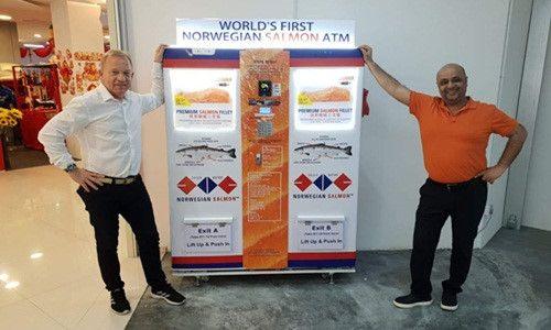 Quy trình hoạt động của ATM cá hồi đầu tiên trên thế giới