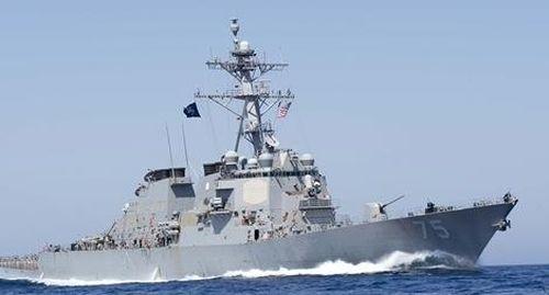 Nga điều tàu chiến bám theo khu trục mang tên lửa Mỹ trên biển Đen