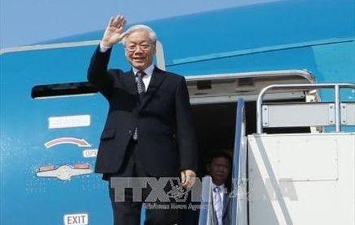Tổng Bí thư, Chủ tịch nước Nguyễn Phú Trọng lên đường thăm hữu nghị chính thức CHDCND Lào và thăm cấp Nhà nước Vương quốc Campuchia