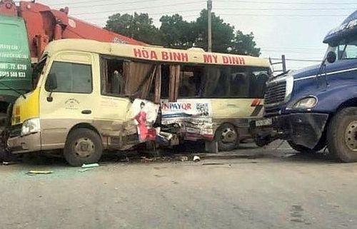 Khởi tố tài xế gây tai nạn giao khiến 2 người tử vong trên Đại lộ Thăng Long