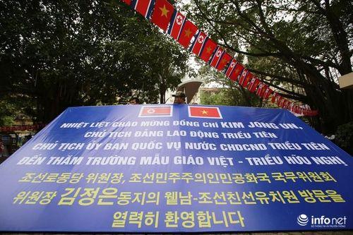 Cô trò trường mầm non Việt - Triều sẵn sàng đón Chủ tịch Kim Jong-un