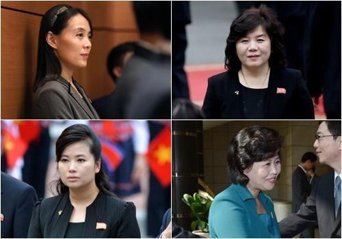Chân dung 4 'bóng hồng' quyền lực tháp tùng ông Kim Jong-un tới Hà Nội