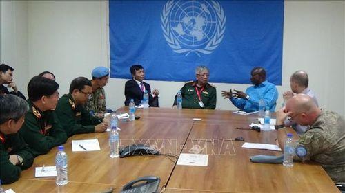 Chùm ảnh đoàn công tác liên ngành về gìn giữ hòa bình thăm, làm việc tại Nam Sudan