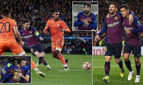 Ronaldo gọi, Messi trả lời, Barcelona 'vùi dập' Lyon