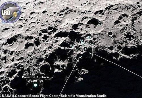 Phát hiện nước đang 'nhảy' trên Mặt Trăng