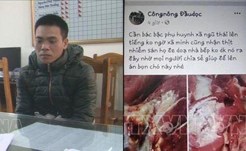 Bắc Ninh: Xác định đối tượng tung tin đồn trường học sử dụng thịt lợn nhiễm sán trên Facebook