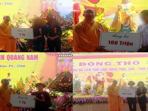 Đại đức Thích Trúc Thái Minh nói gì về hàng tỷ đồng nhận quyên góp xây 'chùa Ba Vàng' Quảng Nam?