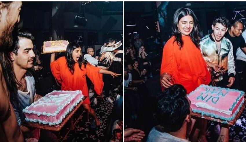 Showbiz phản đối Cựu Hoa hậu thế giới Priyanka Chopra và chồng trẻ Nick Jonas ném bánh kem vào khán giả