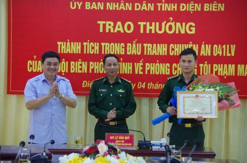 UBND tỉnh Điện Biên khen thưởng thành tích đấu tranh chuyên án 041Lv