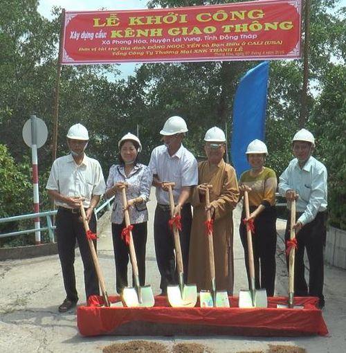 Xã Phong Hòa xây mới 3 cầu nông thôn