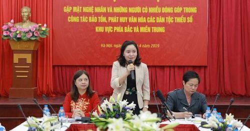 Thứ trưởng Trịnh Thị Thủy: 'Cộng đồng đóng vai trò rất lớn trong công tác bảo tồn, phát huy các giá trị văn hóa dân tộc'