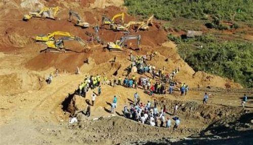 Lở đất ở mỏ khai thác ngọc bích, hàng chục công nhân thiệt mạng