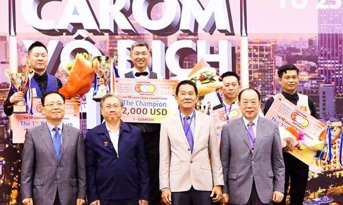 Tay cơ Nguyễn Sỹ Tường (Ðồng Nai) giành HCÐ giải Billiards Carom vô địch châu Á 2019