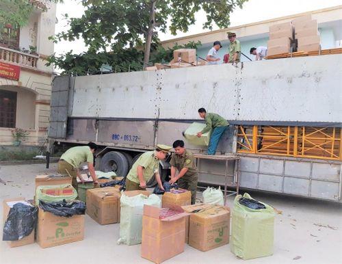 Quảng Bình thu giữ hơn 18.000 bao thuốc lá lậu