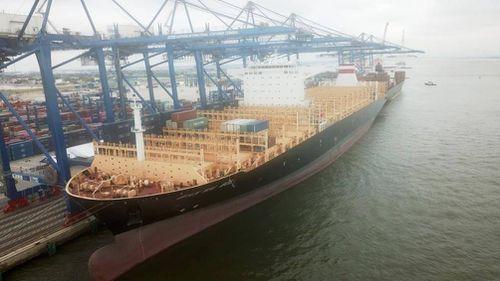 Hải Phòng đón tàu container lớn nhất từ trước tới nay cập cảng
