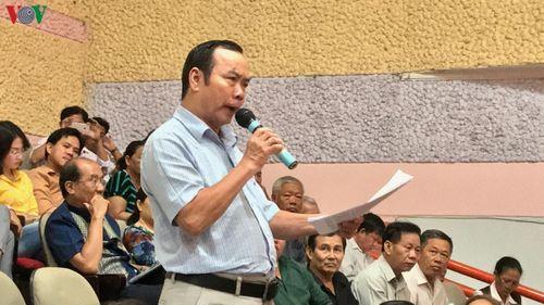 Cử tri kiến nghị đưa vấn đề Thủ Thiêm ra nghị trường Quốc hội