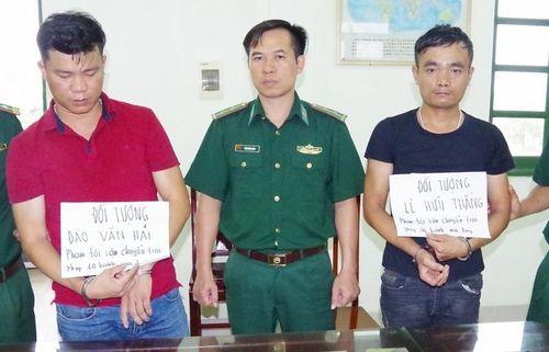 Biên phòng Nam Định bắt giữ 10 bánh heroin