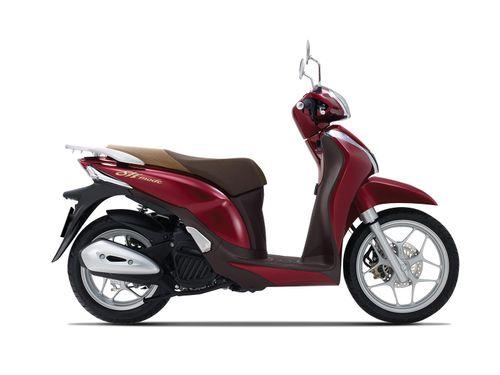 Ngắm SH Mode 125cc màu đỏ đậm mới
