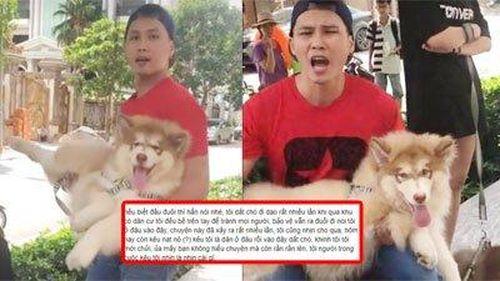 Dắt chó đi dạo không rọ mõm, Việt kiều còn quát tháo người lớn tuổi khiến dân mạng bức xúc