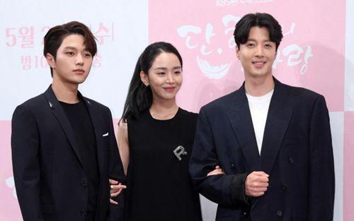 Họp báo' Dan Only Love': Shin Hye Sun thùy mị bên L (Infinite) và 'tài tử' Lee Dong Gun
