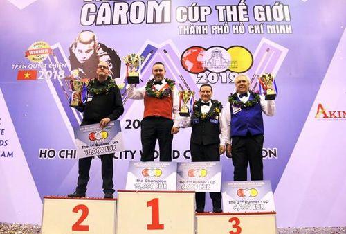 Caudron Frederic vô địch World Cup billiards carom 3 băng TP.HCM 2019