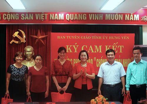 Cơ quan Ban Tuyên giáo Tỉnh ủy Hưng Yên: Phát động hưởng ứng phong trào 'Chống rác thải nhựa'