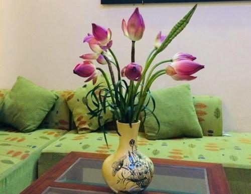 Học cách cắm hoa sen đơn giản, tuyệt đẹp của cô giáo Hà thành