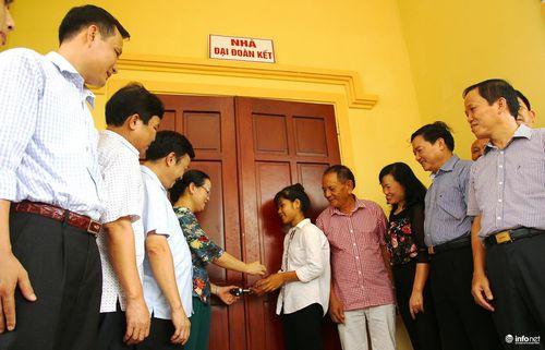 Hội Doanh nghiệp tiêu biểu Nghệ An bàn giao nhà 'Đại đoàn kết' cho 5 anh em mồ côi