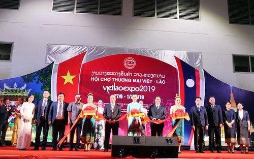 Khai mạc Hội chợ thương mại Việt - Lào 2019