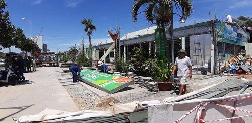 Hàng loạt nhà hàng hải sản nổi tiếng ở Đà Nẵng bị tháo dỡ