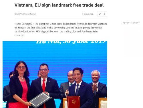 Hàng loạt báo quốc tế đưa tin Việt Nam và EU ký EVFTA