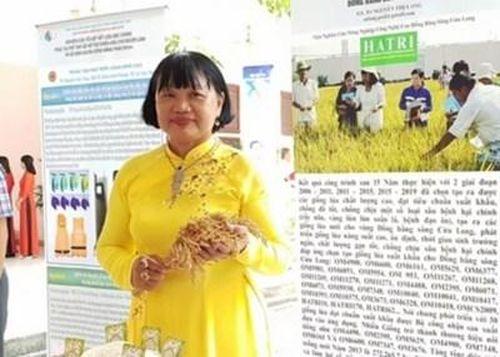 Nhà khoa học nữ miền Tây dành trọn đam mê cho cây lúa