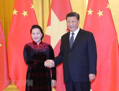 Chủ tịch Quốc hội Nguyễn Thị Kim Ngân hội kiến với các nhà lãnh đạo Trung Quốc