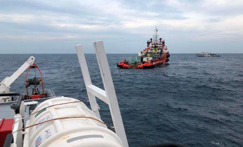 Phát hiện một phần thi thể gần nơi con tàu bị tông chìm
