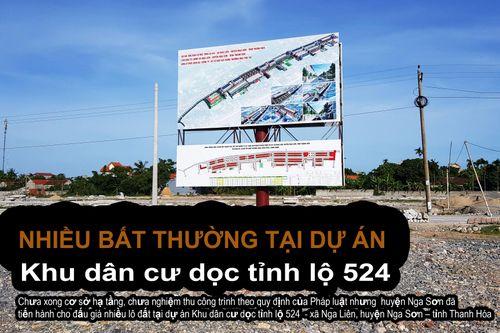 Thanh Hóa – Bài 1: Nhiều sai phạm tại dự án Khu dân cư dọc tỉnh lộ 524 xã Nga Liên
