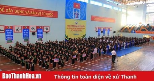 Gần 600 VĐV tranh tài tại Giải võ thuật cổ truyền các câu lạc bộ tỉnh Thanh Hóa – Cúp Vinaphone 2019