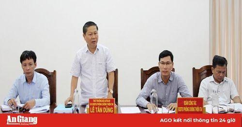 Thứ trưởng Bộ Lao động-Thương binh và Xã hội Lê Tấn Dũng:Kiểm tra công tác phòng, chống thiên tai tại An Giang