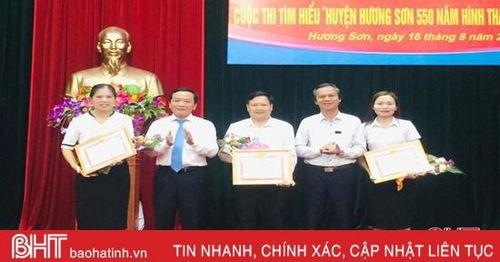 23 tập thể, cá nhân đạt giải Cuộc thi Tìm hiểu 550 huyện Hương Sơn