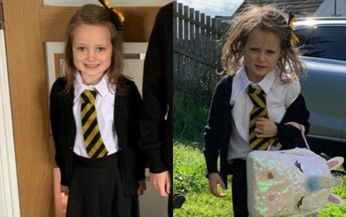 Ảnh bé gái 5 tuổi 'vật vã' sau ngày đầu đi học nổi tiếng trên mạng