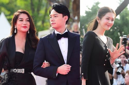 Trương Ngọc Ánh dự thảm đỏ Hàn Quốc cùng Jang Nara, Ji Chang Wook