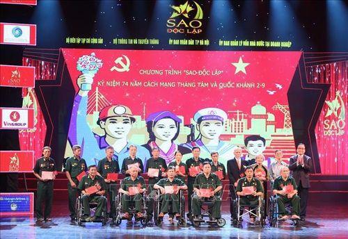 'Sao Độc lập 2019' kỷ niệm 74 năm Cách mạng tháng Tám và Quốc khánh 2/9