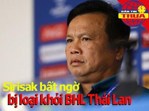 Thái Lan sa thải Sirisak, gọi HLV đội tuyển U-19 lên thay thế
